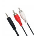 Audio Cable 3.5mm male - 2x RCA male 3m