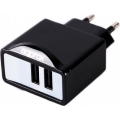 WALL CHARGER UNIVERSAL ΔΙΠΛΟΣ APPROX APPUSBWALL21B